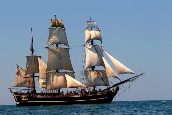 Large sailing vessel