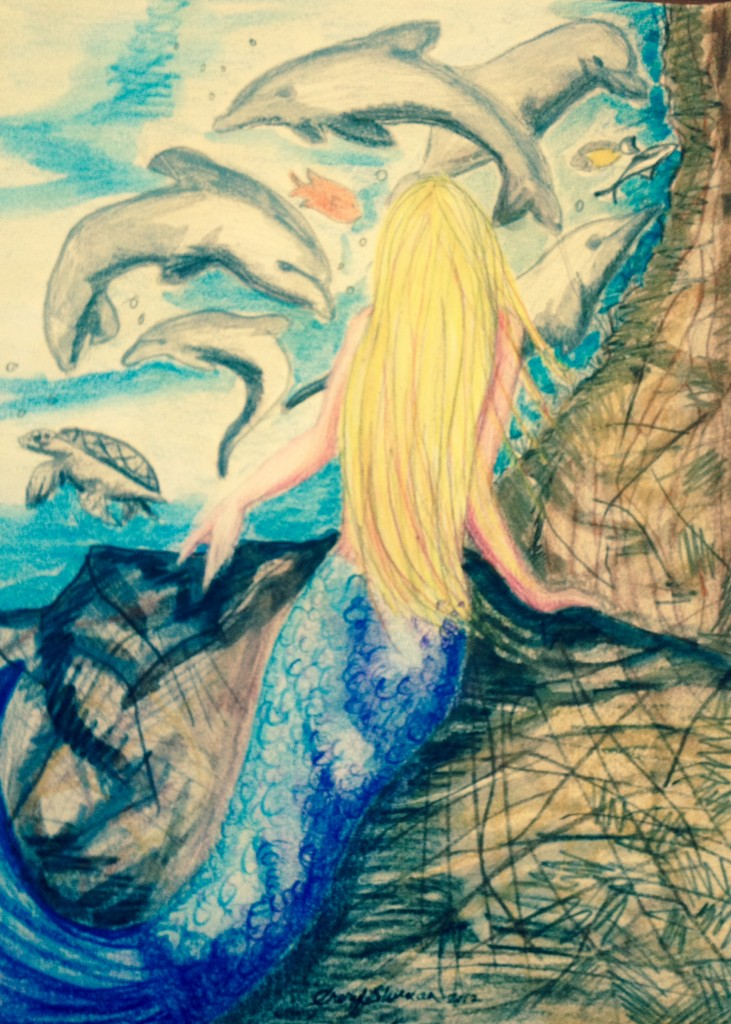 Concept Art of Callista and Dolphins
