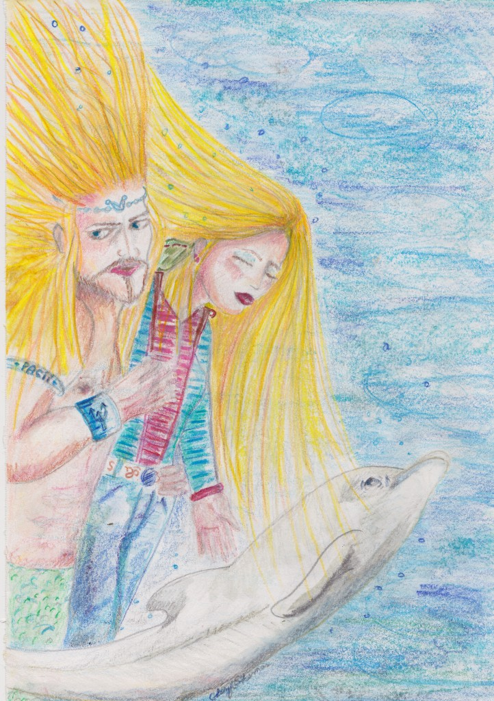 Concept art of Callista, Triton and Dolphin